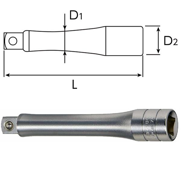 【KTC】9.5sq.エクステンションバー100mmBE3-100